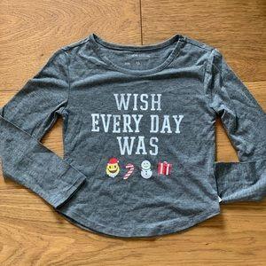 Holiday long sleeve shirt- various sizes